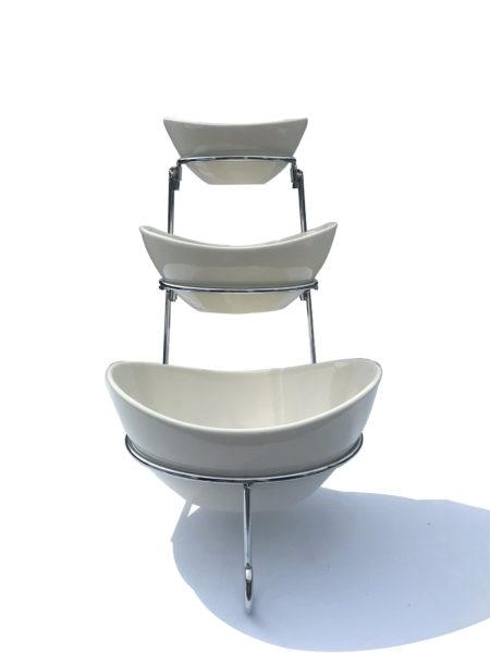 3 Tier Porcelain Bowl Stand