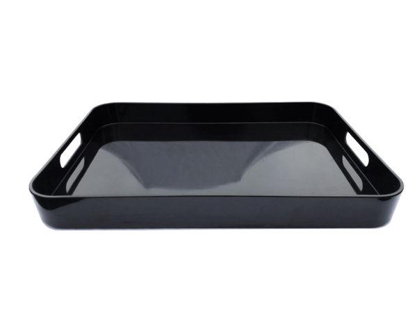 Acrylic Black Tray with Handles