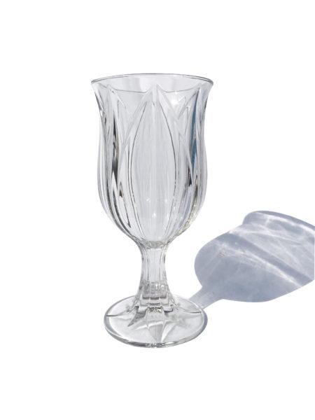 Clear Glass Tulip Pedestal Vase