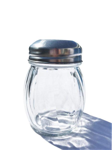 Clear Glass Spiral Shaker