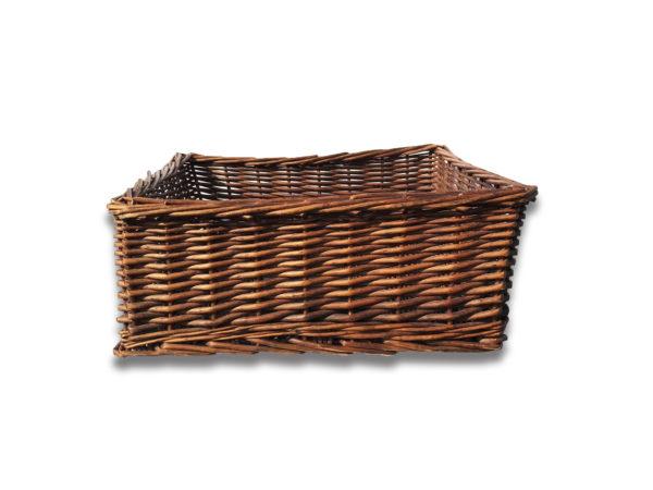 Dark Wicker Rectangular Basket