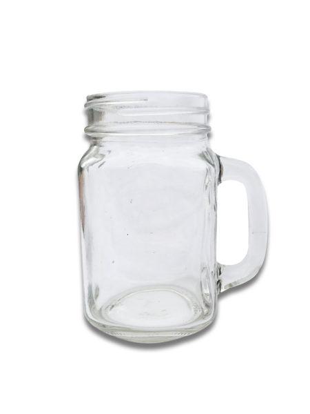 Clear Mason Jar with Handles