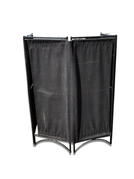 Mini Black Canvas Four Panel Screen