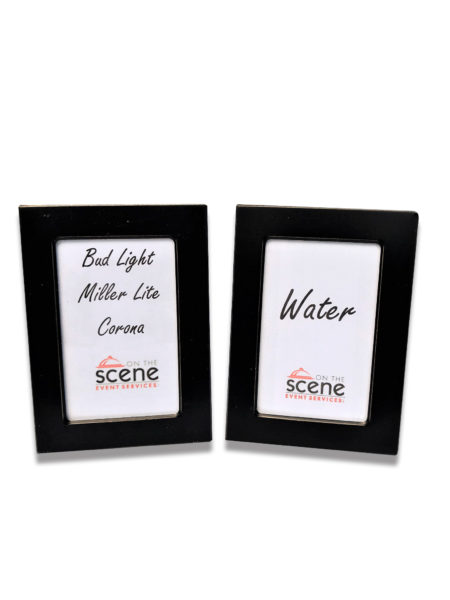 Mini Black Picture Frame Labels
