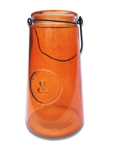 Colored Glass Carafe Vase
