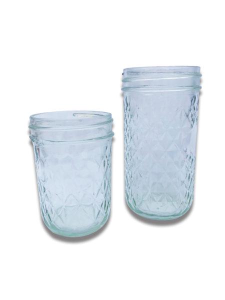 Recycled Glass Mason Jars