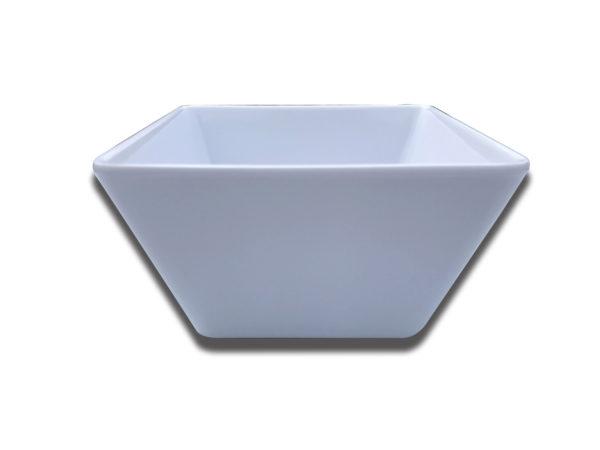 Flared White Plastic Small Bowl