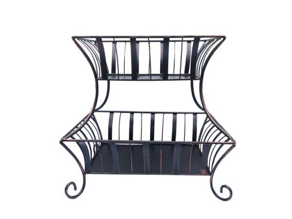 2 Tier Wrought Iron Display Basket