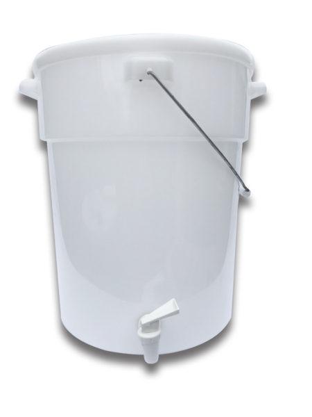6 Gallon White Plastic Beverage Dispenser